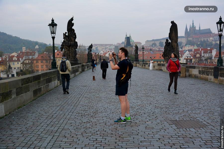 Странные туристы в Праге