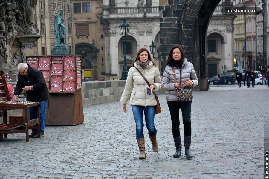 Туристы в Праге