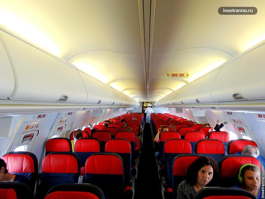 Турецкие авиалинии - эконом класс самолета
