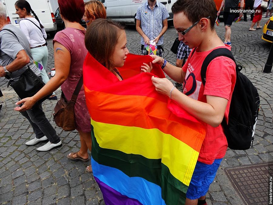 Гей-парад в Праге