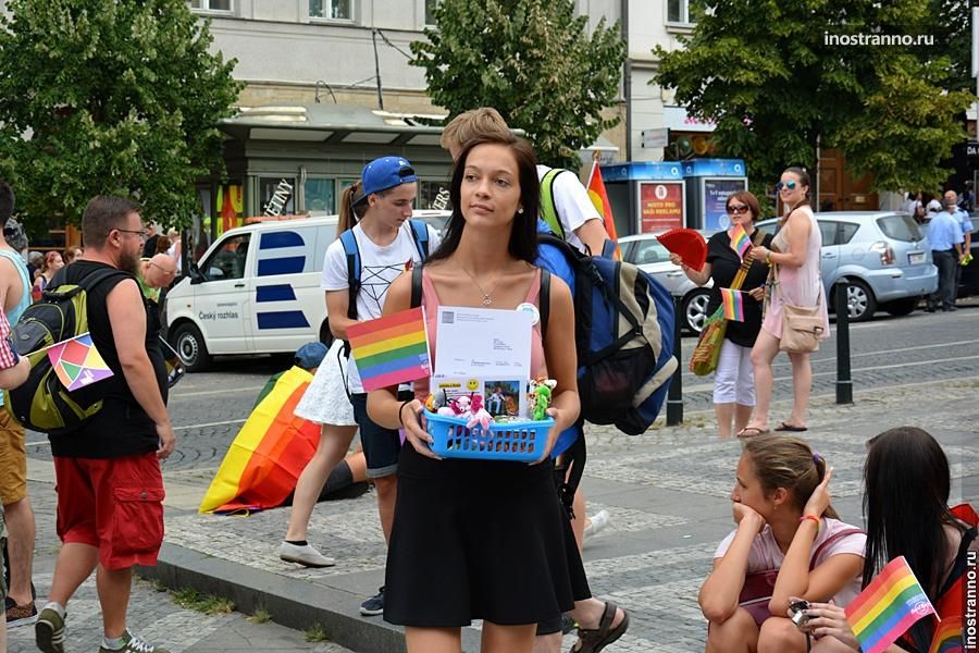 Чешка на гей-параде
