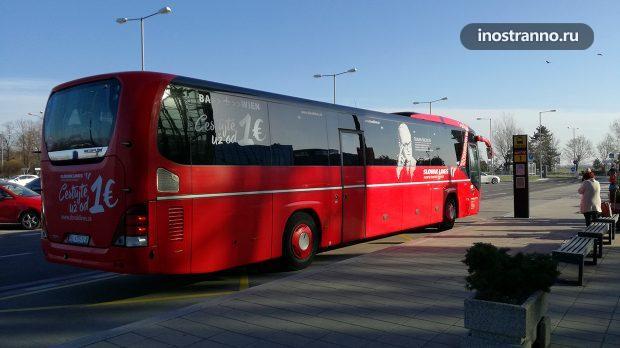 Автобус из аэропорта Братиславы в Вену