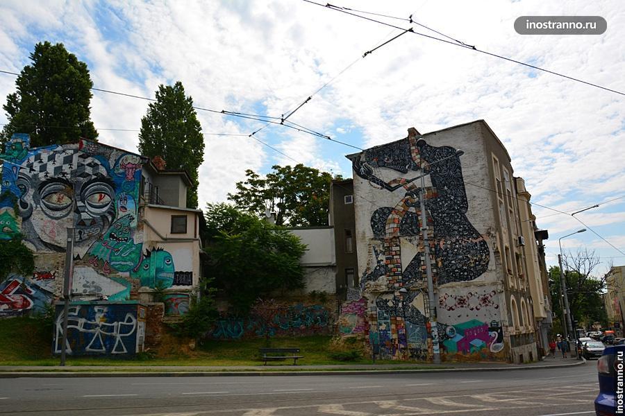 Граффити в Бухаресте