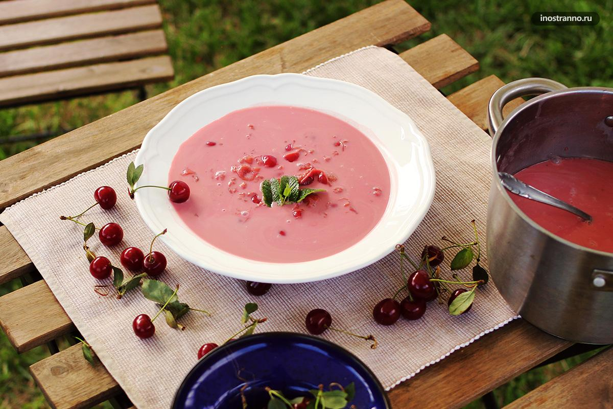 Суп из кислой вишни (Meggyleves), Венгрия