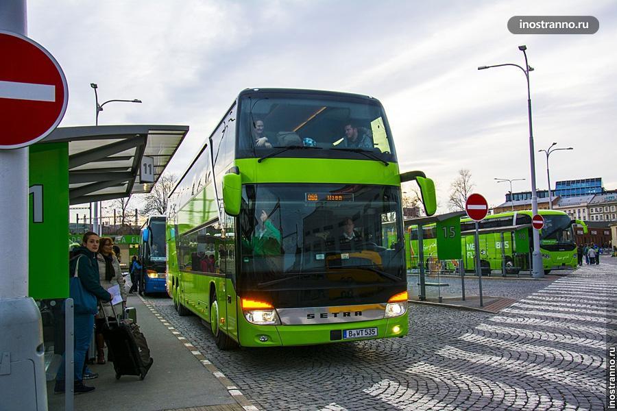 Автобус в Прагу из Германии