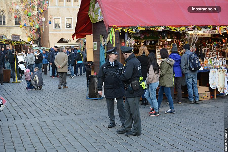 Безопасность на улицах Праги
