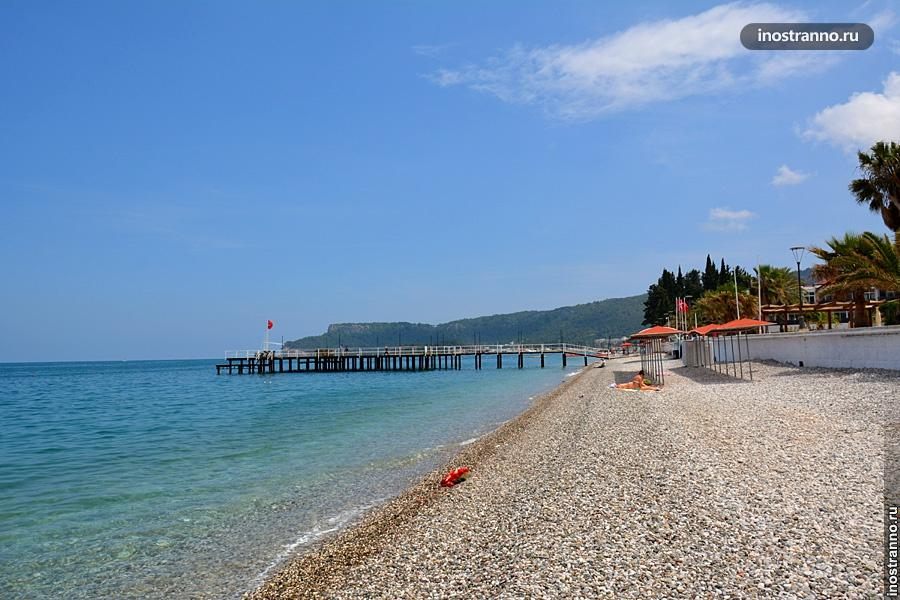 Пляж в Турции в Кемере