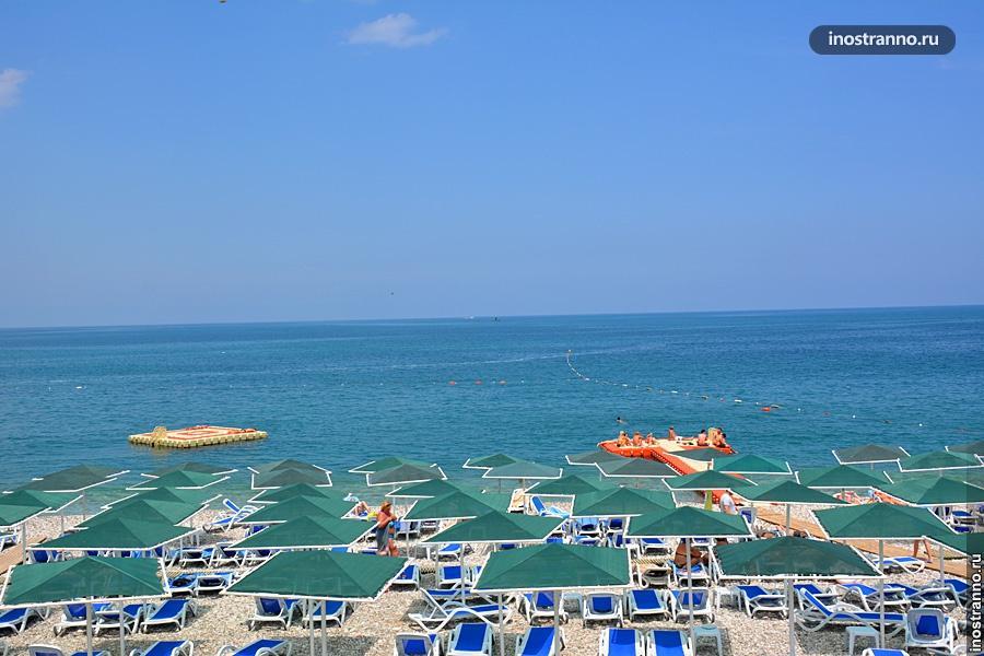 Grand Haber пляж у отеля в Кемере