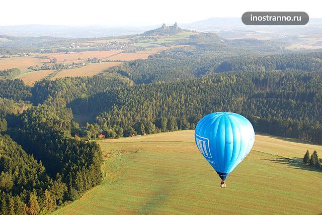 Полёт на воздушном шаре в Чехии