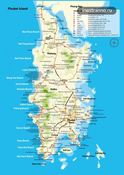 Карта дорог Пхукета