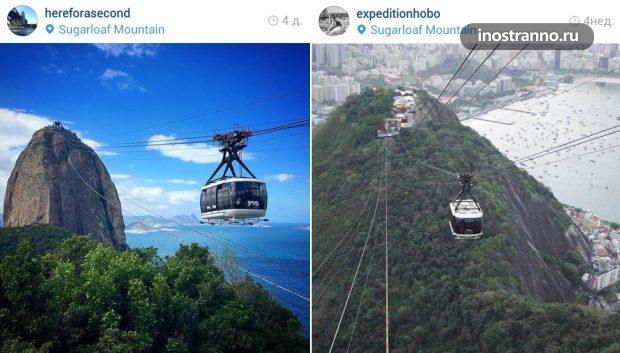 Фуникулер в Рио на гору Сахарная голова