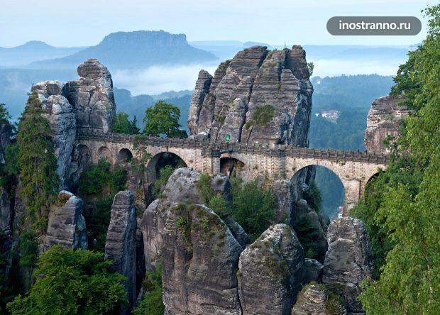 Мост Бастай в Саксонской Швейцарии