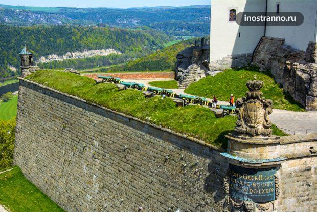 Замок Кёнигштайн в Германии