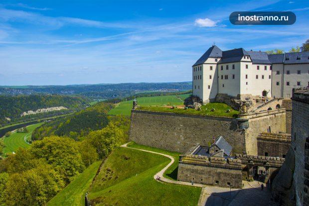 Крепость Кёнигштайн в Германии