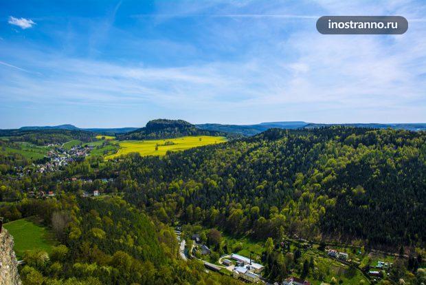 Саксонская Швейцария панорамное фото