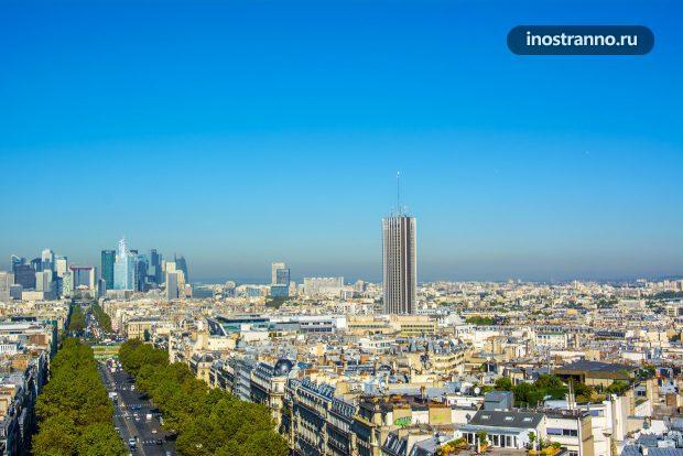 Hyatt Regency Отель в Париже с видом на Эйфелеву башню