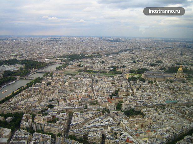 Обзорная площадка на Эйфелевой башне