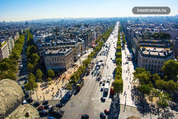 Улицы Парижа с высоты птичьего полета