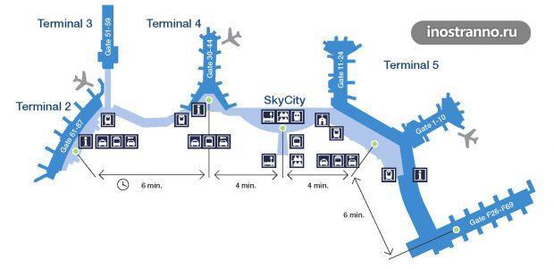 Карта аэропорта Арланда в Стокгольме