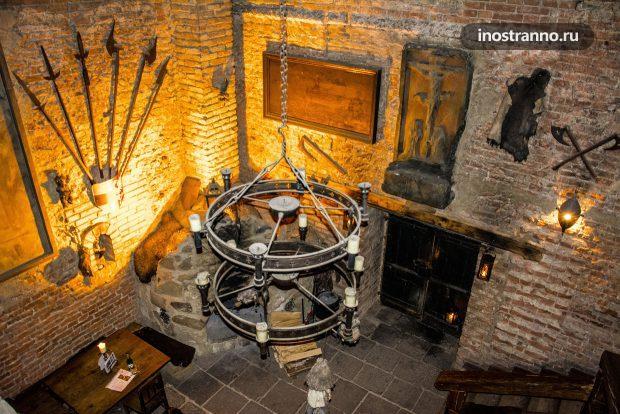 Средневековый отель и ресторан в Чехии