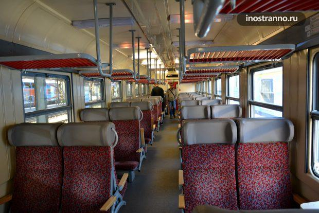 Поезд электричка Прага Кладно