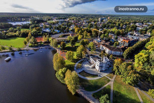 Курортный город в Друскининкай, Литва
