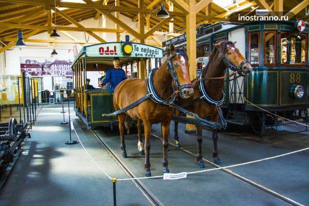 Конка или конный трамвай в Праге