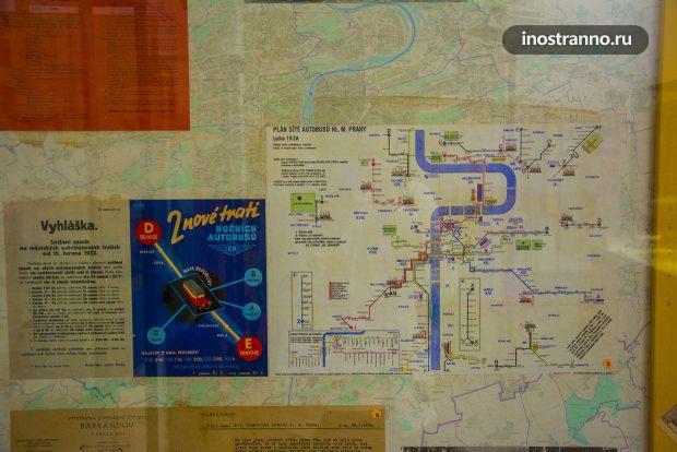 Старые маршруты транспорта Праги
