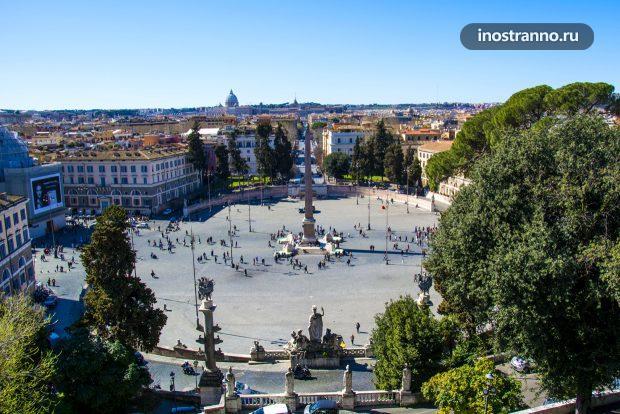 Пьяцца-дель-Пополо в Риме