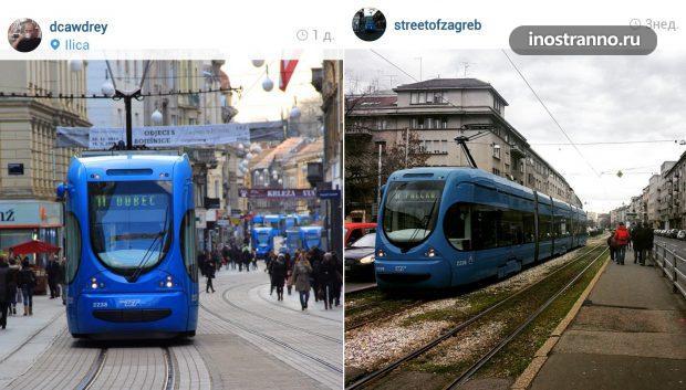 Трамваи в Загребе