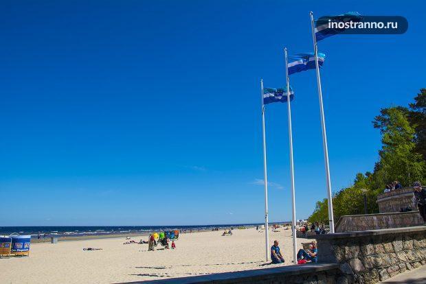 Пляж с голубым флагом