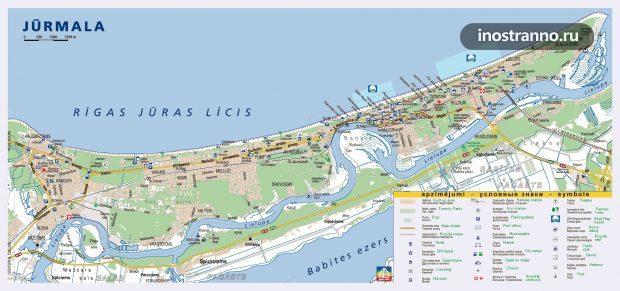 Карта города Юрмала