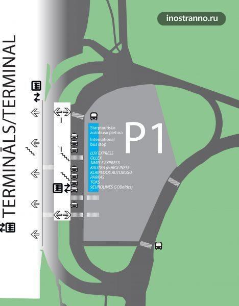 Карта аэропорта Риги