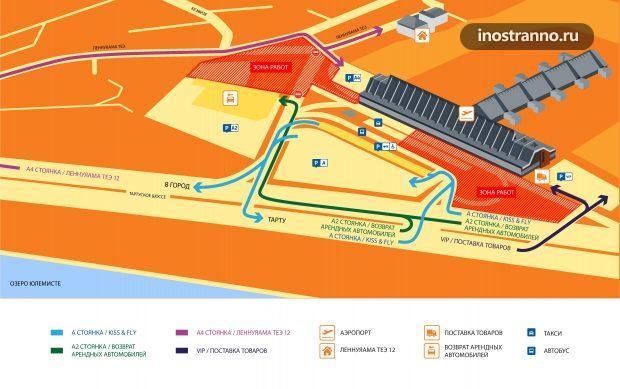 Карта аэропорта Таллина
