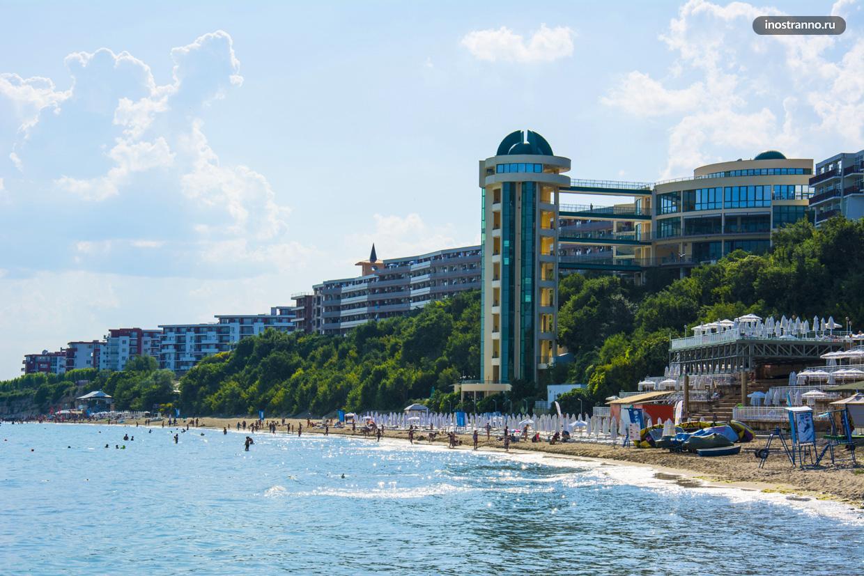 Пляж комплекса Робинзон в Елените, Болгария