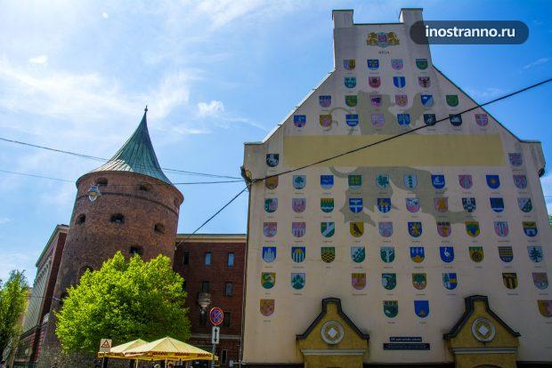 Пороховая башня и музей в Риге