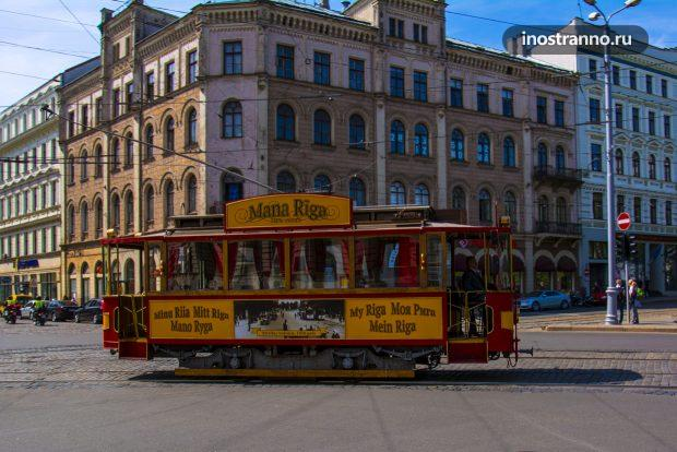 Ретро трамвай в Риге
