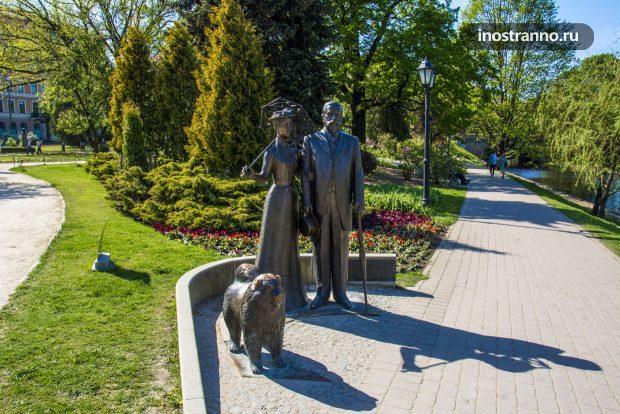 Скульптура в парке Риги