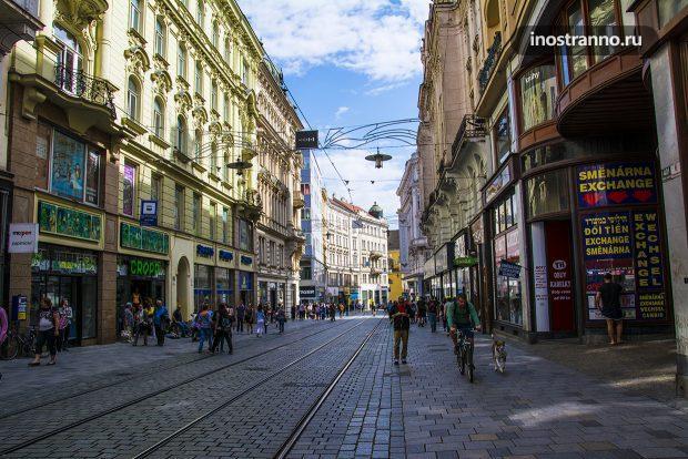 Пешеходная улица Брно