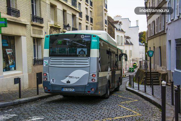 Электрический автобус в Париже