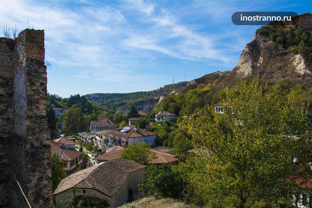 Крепость в болгарском городе Мелник