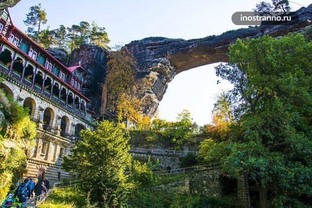 Правчицкие ворота достопримечательность Чехии