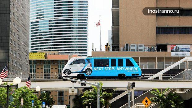 Монорельс Metromover в Майами