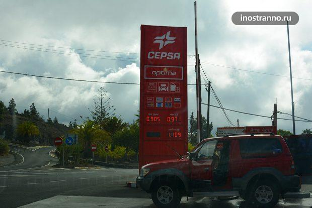 Расходы при аренде автомобиля на Тенерифе