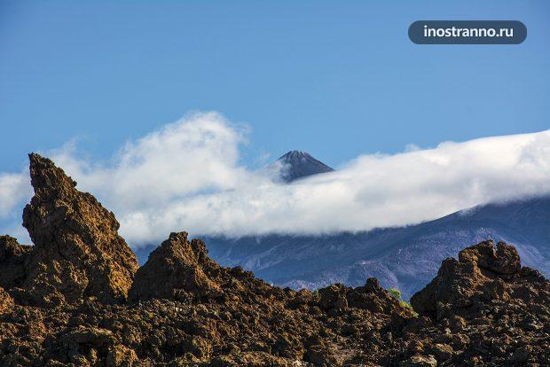 Вулкан Тейде в облаках