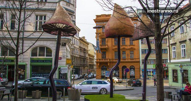 Необычный отель с грибами Mosaic House в Праге