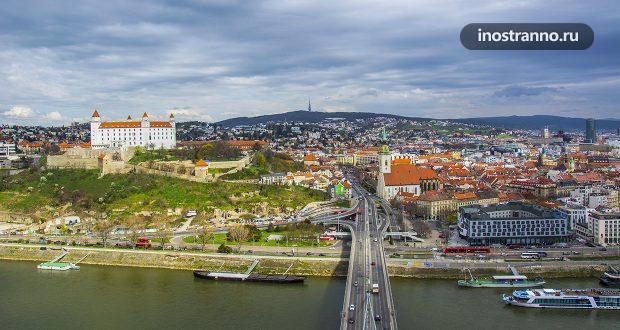 Фото Братиславы с высоты