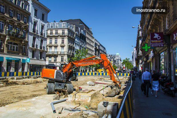 Стройка в Брюсселе