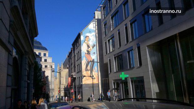 Комикс Скорпион Граффити в Брюсселе