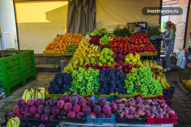 Фрукты и овощи в Болгарии на Солнечном Берегу и в Бургасе